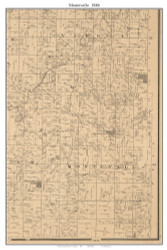 Montevallo, Missouri 1886 Old Town Map Custom Print Vernon Co.
