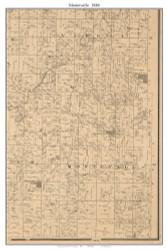 Montevallo, Missouri 1886 Old Town Map Custom Print Vernon Co.