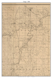 Osage, Missouri 1886 Old Town Map Custom Print Vernon Co.