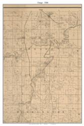 Osage, Missouri 1886 Old Town Map Custom Print Vernon Co.