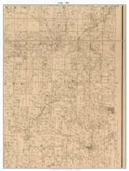 Virgil, Missouri 1886 Old Town Map Custom Print Vernon Co.