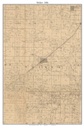 Walker, Missouri 1886 Old Town Map Custom Print Vernon Co.