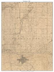 Washington, Missouri 1886 Old Town Map Custom Print Vernon Co.