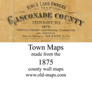 Map Cartouche, Gasconade Co. Missouri 1875 Old Town Map Custom Print