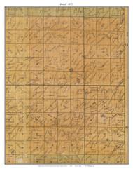 Boeuf, Missouri 1875 Old Town Map Custom Print Gasconade Co.