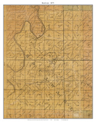 Boulware, Missouri 1875 Old Town Map Custom Print Gasconade Co.