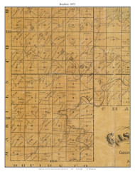 Bourbois, Missouri 1875 Old Town Map Custom Print Gasconade Co.