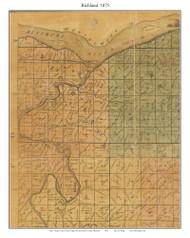 Richland, Missouri 1875 Old Town Map Custom Print Gasconade Co.