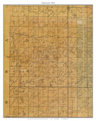 Third Creek, Missouri 1875 Old Town Map Custom Print Gasconade Co.
