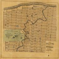 Hermann Village, Roark, Missouri 1875 Old Town Map Custom Print Gasconade Co.