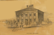 Hermann Court House, Roark, Missouri 1875 Old Town Map Custom Print Gasconade Co.