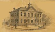 Herman School House, Roark, Missouri 1875 Old Town Map Custom Print Gasconade Co.