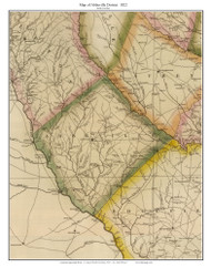 Abbeville District, 1822 South Carolina - Wilson - Old Map Reprint