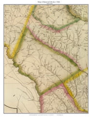 Barnwell District, 1822 South Carolina - Wilson - Old Map Reprint