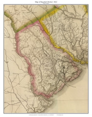 Beaufort District, 1822 South Carolina - Wilson - Old Map Reprint