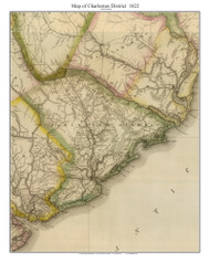 Charleston District, 1822 South Carolina - Wilson - Old Map Reprint