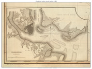 Charleston Harbor Insert, 1822 South Carolina - Wilson - Old Map Reprint