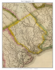 Colleton District, 1822 South Carolina - Wilson - Old Map Reprint