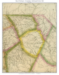 Darlington, Chesterfield & Marlbourgh Districts, 1822 South Carolina - Wilson - Old Map Reprint