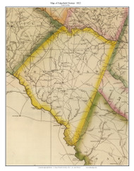 Edgefield District, 1822 South Carolina - Wilson - Old Map Reprint