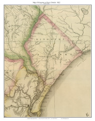 Kingston or Horry District, 1822 South Carolina - Wilson - Old Map Reprint