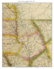 Lancaster & Kershaw Districts, 1822 South Carolina - Wilson - Old Map Reprint