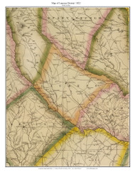 Laurens District, 1822 South Carolina - Wilson - Old Map Reprint