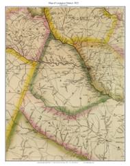 Lexington District, 1822 South Carolina - Wilson - Old Map Reprint