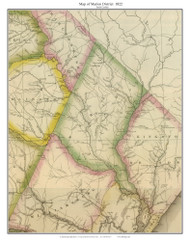 Marion District, 1822 South Carolina - Wilson - Old Map Reprint