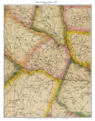 Newberry District, 1822 South Carolina - Wilson - Old Map Reprint