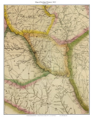 Richland District, 1822 South Carolina - Wilson - Old Map Reprint