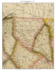 Spartanburgh District, 1822 South Carolina - Wilson - Old Map Reprint