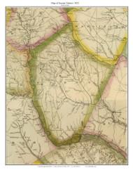 Sumter District, 1822 South Carolina - Wilson - Old Map Reprint