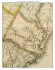 Williamsburg & Georgetown Districts, 1822 South Carolina - Wilson - Old Map Reprint