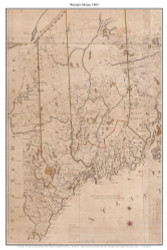 Central Maine - Section 1802 Carleton - Old Map Custom Reprint from State Map