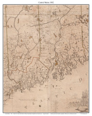 Eastern Maine - Section 1802 Carleton - Old Map Custom Reprint from State Map