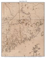 Western Maine - Section 1802 Carleton - Old Map Custom Reprint from State Map