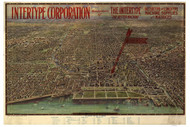 Chicago, Illinois 1916 Bird's Eye View - Central Business Section - Reincke - Intertype Corporation