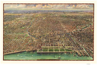 Chicago, Illinois 1916 Bird's Eye View - Central Business Section - Reincke (Plain)