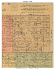 Belford, South Dakota 1900 Old Town Map Custom Print - Aurora Co.