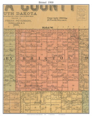 Bristol, South Dakota 1900 Old Town Map Custom Print - Aurora Co.