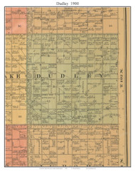 Dudley, South Dakota 1900 Old Town Map Custom Print - Aurora Co.