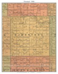 Firesteel, South Dakota 1900 Old Town Map Custom Print - Aurora Co.