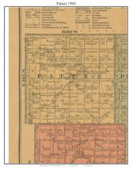 Patten, South Dakota 1900 Old Town Map Custom Print - Aurora Co.