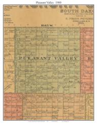 Pleasant Valley, South Dakota 1900 Old Town Map Custom Print - Aurora Co.