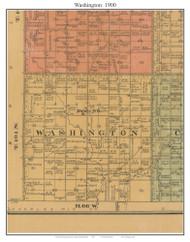 Washington, South Dakota 1900 Old Town Map Custom Print - Aurora Co.