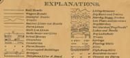 Map Explanations,  Aurora Co., South Dakota 1900 Old Town Map Custom Print -