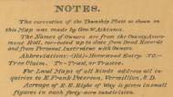 Map Notes,  Aurora Co., South Dakota 1900 Old Town Map Custom Print -