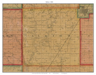 Albion, South Dakota 1893 Old Town Map Custom Print - Bon Homme Co.