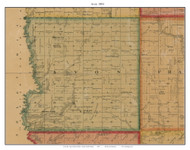 Avon, South Dakota 1893 Old Town Map Custom Print - Bon Homme Co.